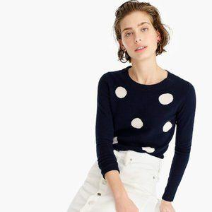 J. Crew polka dot cashmere crewneck sweater